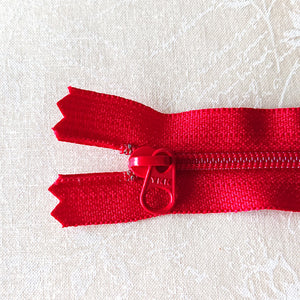 YKK Candy Color Zipper -- Red(15cm/6in)