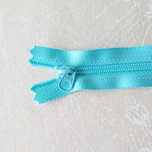 YKK Candy Color Zipper -- Blue (15cm/6in)
