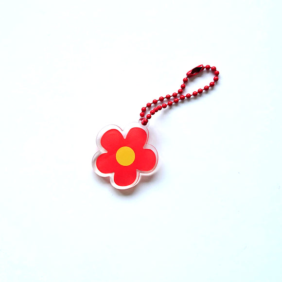 Bag charm - Red Flower