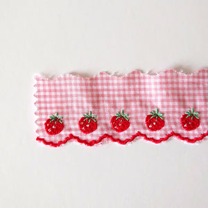 Embroidered Strawberry Ribbon - by Atsuko Matsuyama