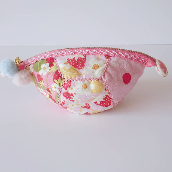 Strawberry and Cream Zipper Pouch (pink)