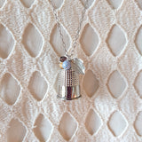 Thimble Necklace of Luck (Silver)