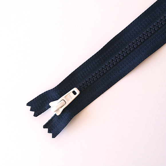 YKK TOY ZIPPER - NAVY BLUE +WHITE (20cm)