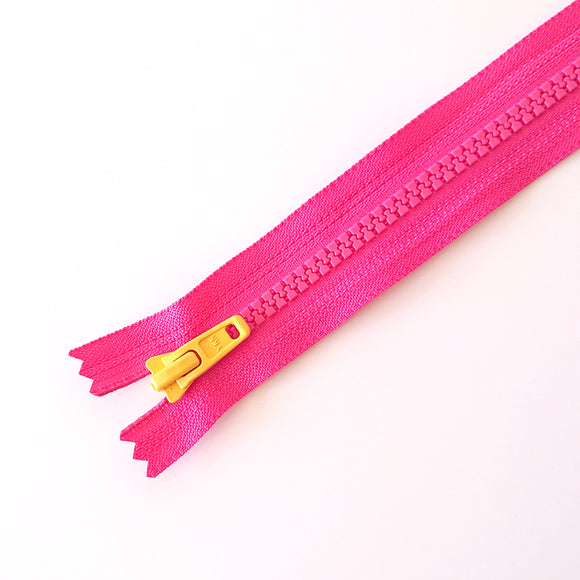 YKK TOY ZIPPER - PINK + YELLOW(20cm)