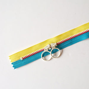 YKK Triple Zipper- Blue/Yellow/White (50cm)