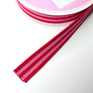 WEBBING -- Stripy (red/pink)