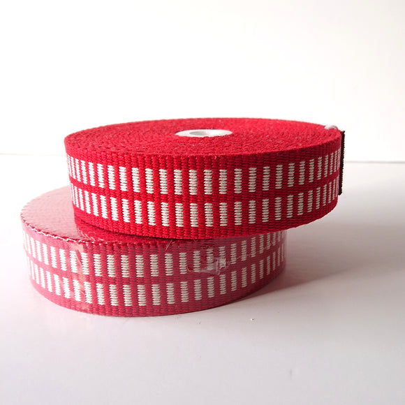 WEBBING --  Red/white