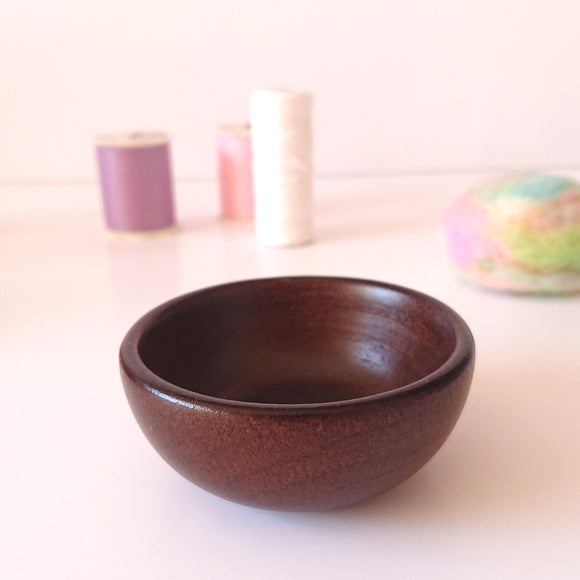 Wood base for Pincushions - Bowl Shape  (with example photo)