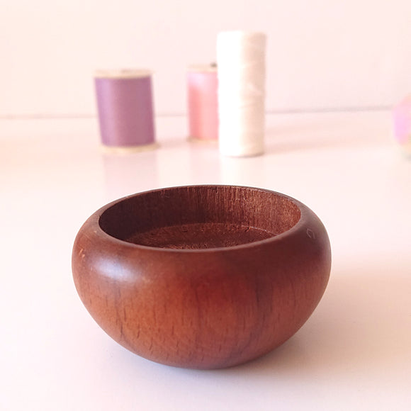 Wood base for Pincushions - Shallow Base   (with example photo)
