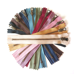 YKK Bronze Zipper with Tulip Pull - 10 PCS Full Bundle (30cm)