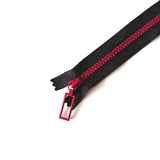 YKK Combo Zipper Black + Red (20cm)