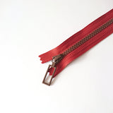 YKK Combo Zipper Orange + Brown (20cm)
