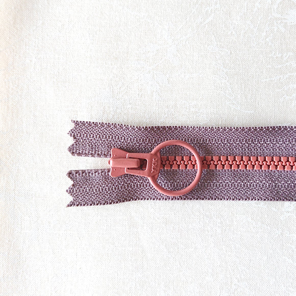 YKK Combo Zipper Rosy Brown + Brick Red (40cm/16in)