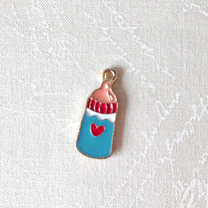 Zipper Charm - Milk Bottle