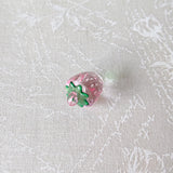 Zipper Charm - Pink Transparent Strawberry