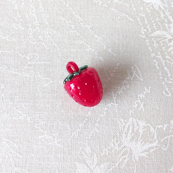 Zipper Charm - Red Strawberry