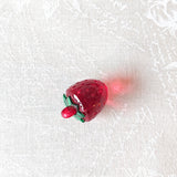 Zipper Charm - Red Transparent Strawberry
