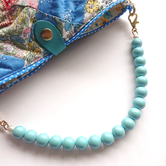 Bag Handles - Round Beads Handle (glittering Blue)