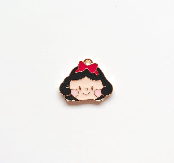 Zipper Charm - Chubby Girl (black hair)