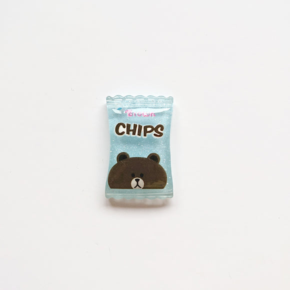 Zipper Charm - Crisps/Chips (light Blue)