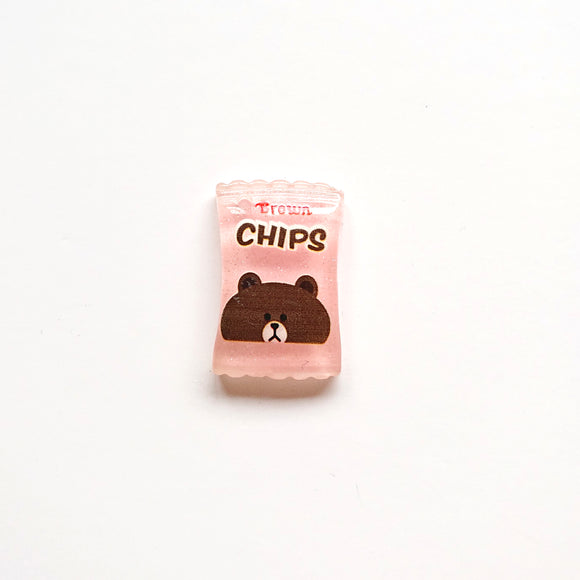 Zipper Charm - Crisps/Chips (light Pink)