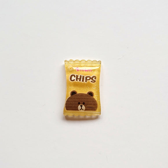 Zipper Charm - Crisps/Chips (yellow)