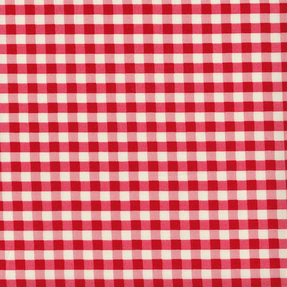 YUWA Basic Gingham - Bright Red