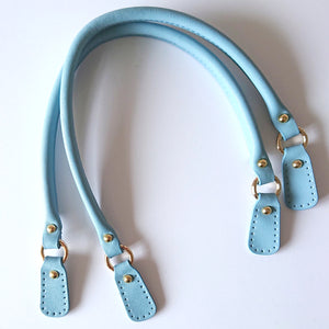 Leather Bag Handles - Lake Blue