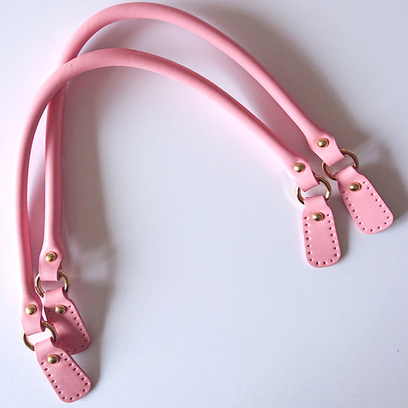 Leather Bag Handles - Candy Pink