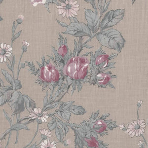 Large Wild Rose-Light Brown