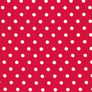 YUWA Basic Polly Dot- Bright Red