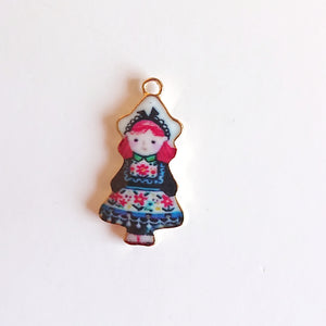 Zipper Charm - Russian Doll