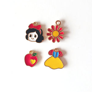 Zipper Charm - Snow White Bundle