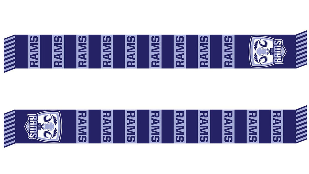 Perth Rams Official Team Scarf