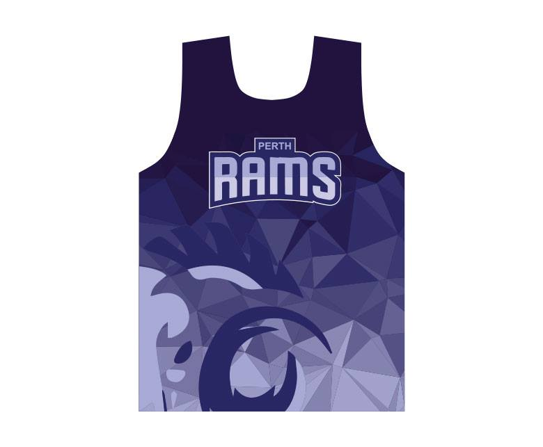 Perth Rams - Official Training Singlet
