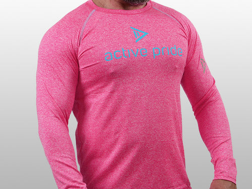 Masculine Colour - Hot Pink Tee Long Sleeve