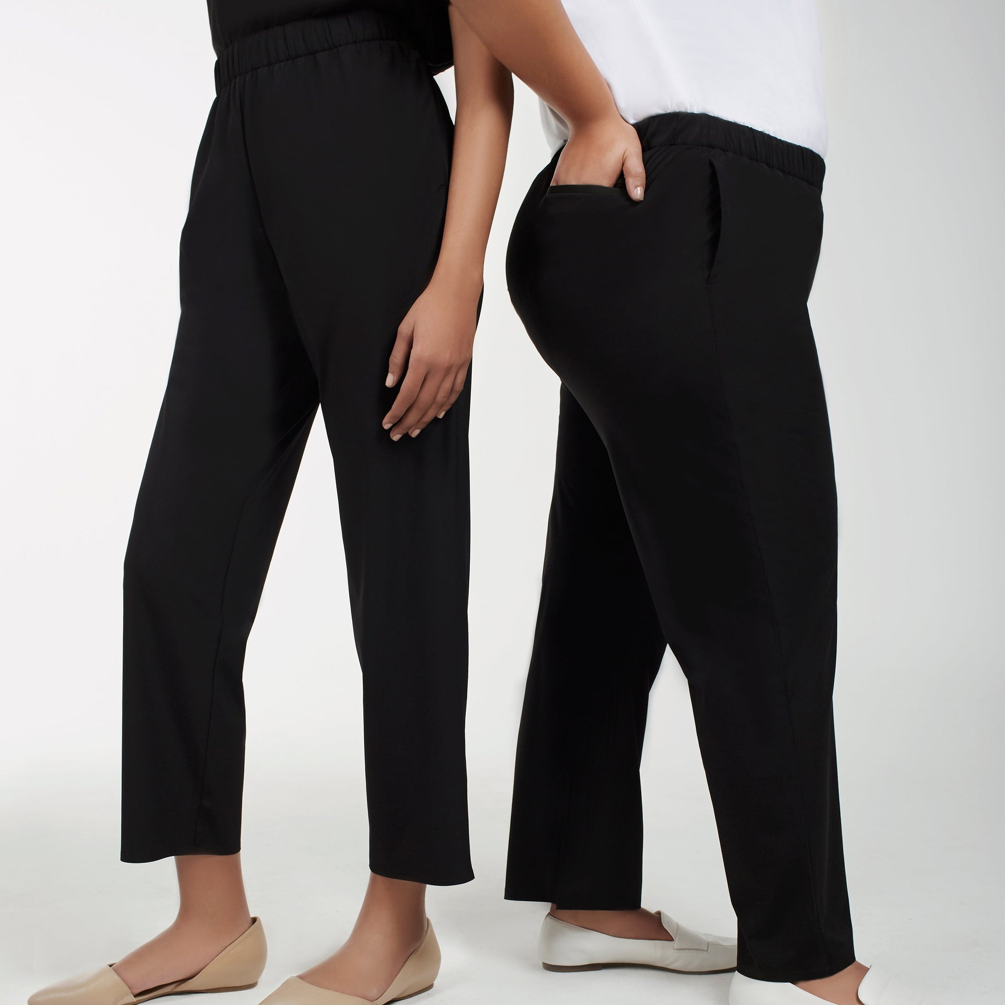 Ankle Length Black Trousers