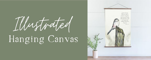 Illustrated Hanging Canvas
