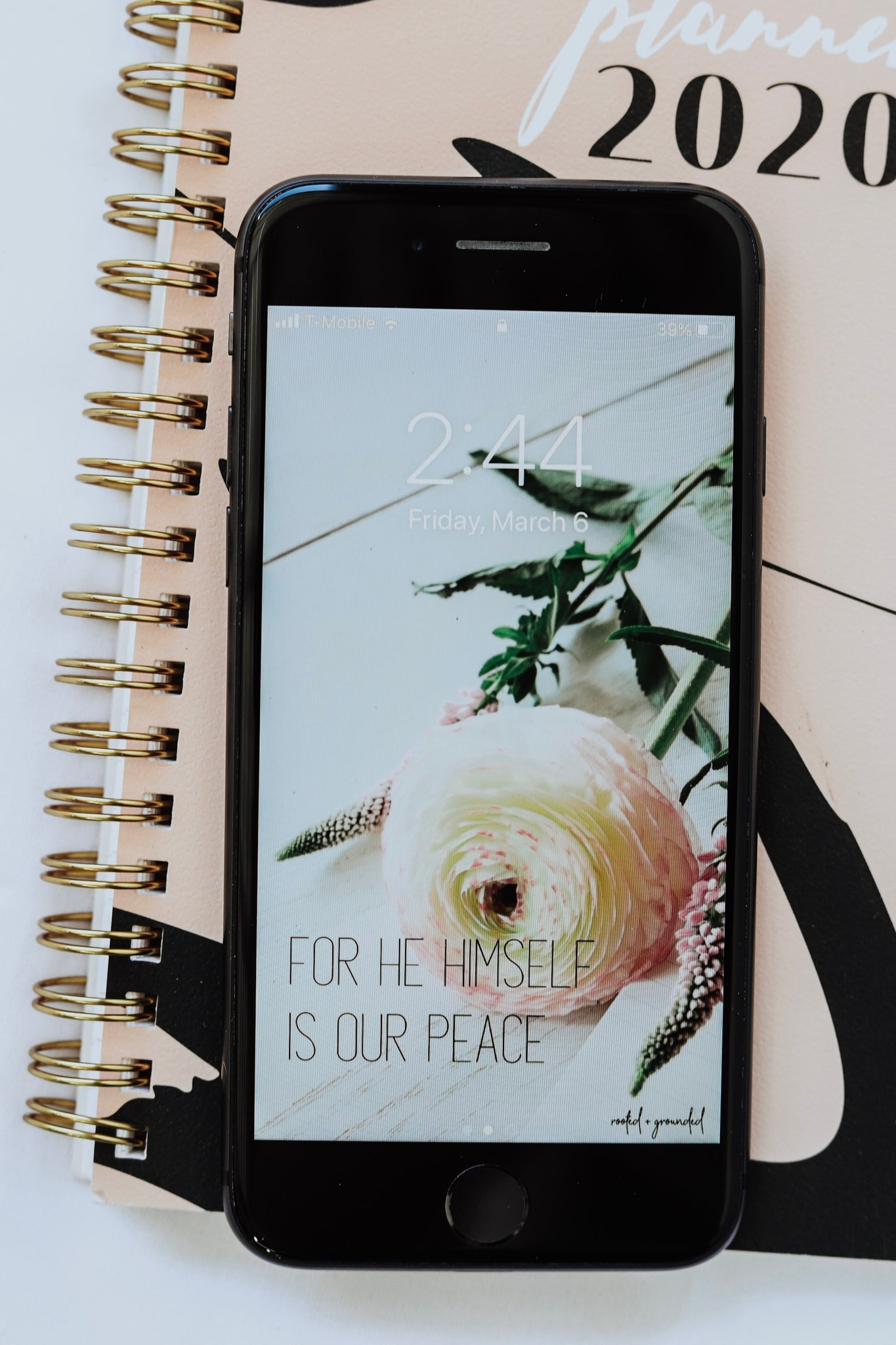 For He Himself Is Our Peace Christian iPhone Wallpaper