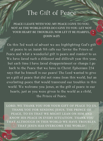 Advent Week 3: The Gift of Peace