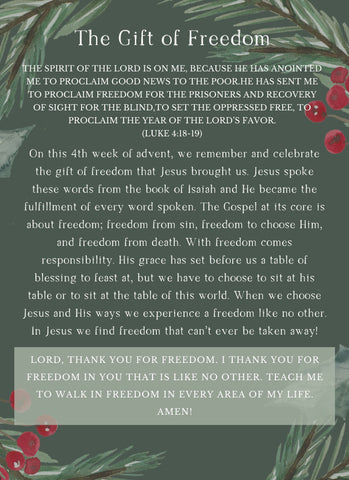 Advent Week 4: The Gift of Freedom
