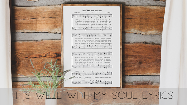 It Is Well With My Soul Lyrics