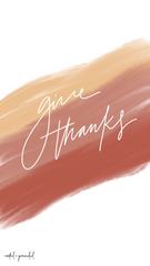 Give Thanks Christian iPhone Wallpaper