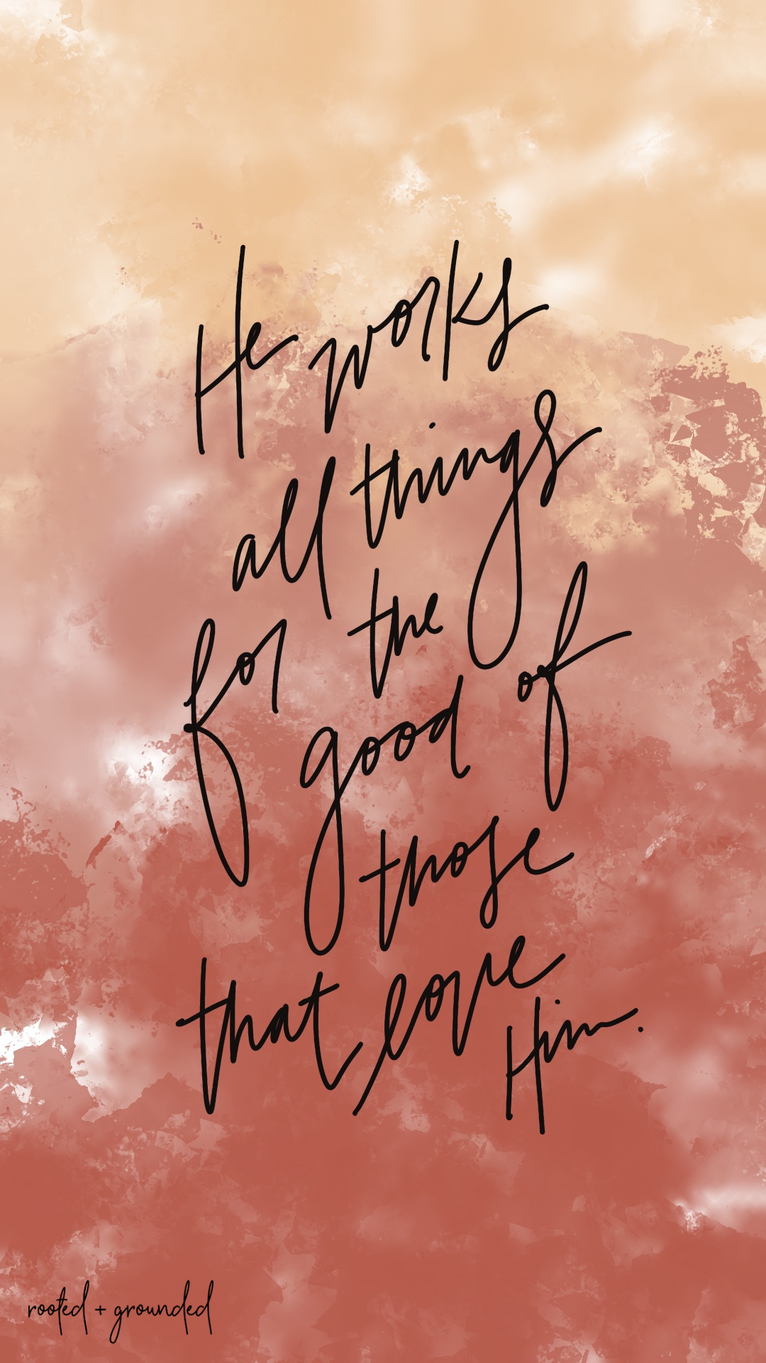 He Works All Things Christian iPhone Wallpaper