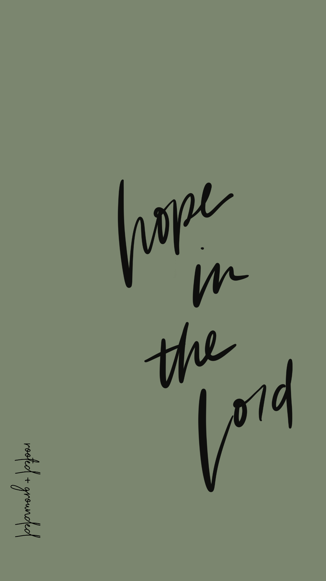 Hope in the Lord Christian iPhone Wallpaper
