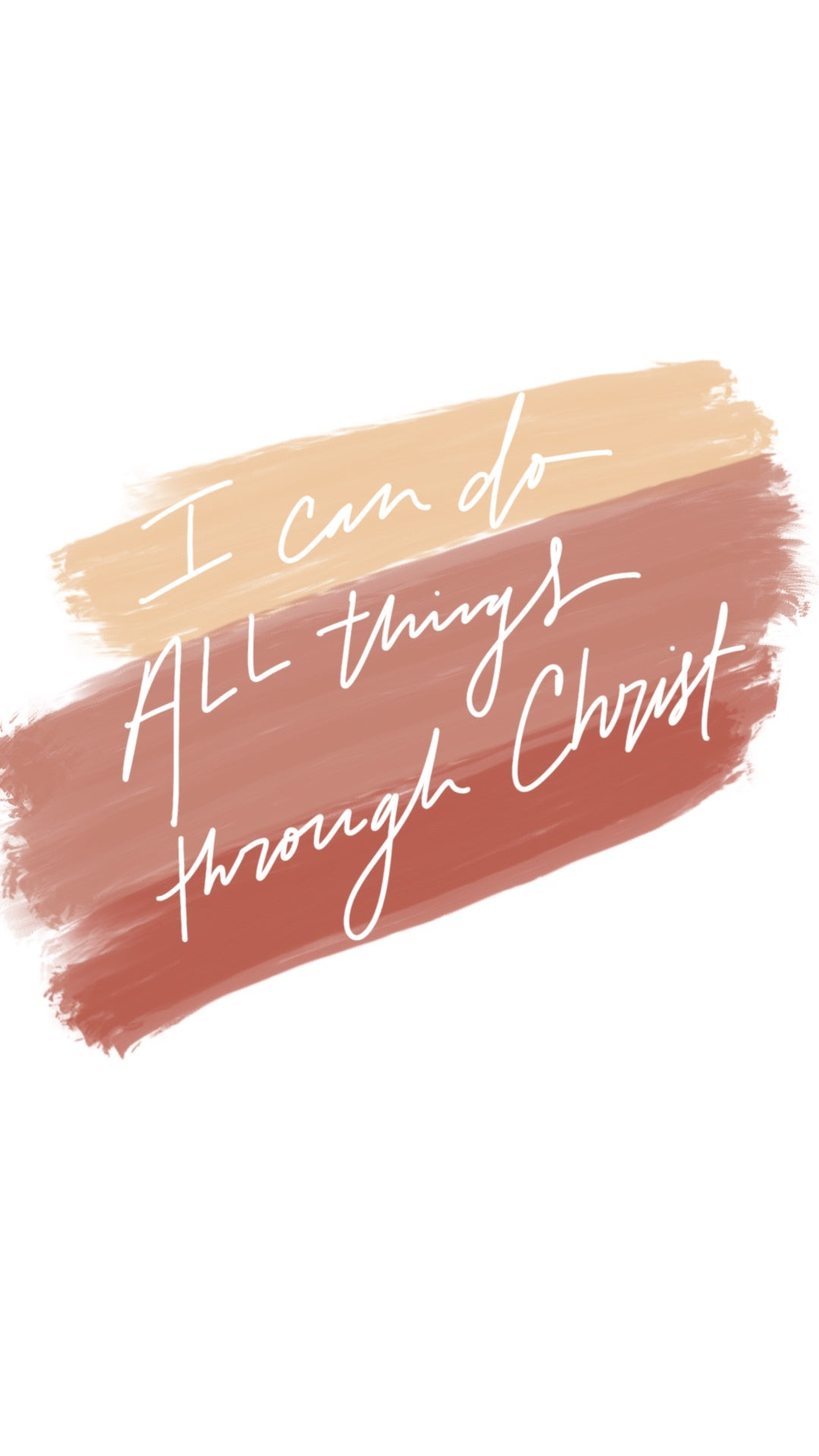 I can do all things through Christ Christian iPhone Wallpaper