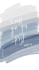 I will give you rest Christian iPhone Wallpaper