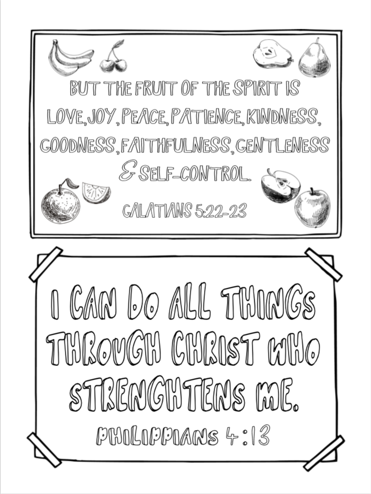 Kids Verses Coloring Page 1