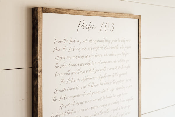 Psalm 103 Sign