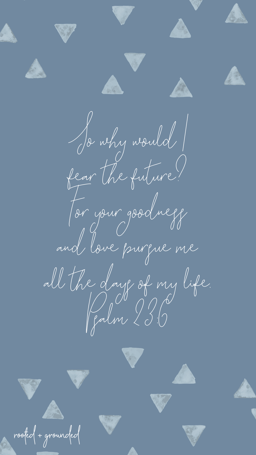 why would I fear the future Christian iPhone Wallpaper